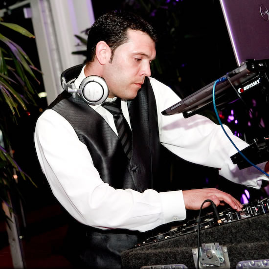 DJ Matthew Swaoger at a Phipps Conservatory Wedding - Courtesy of Studio Bash