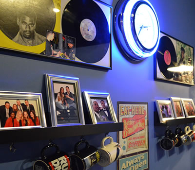 A view of the break room inside our South Side DJ Studio. BPM Deejays is the home of the best Pittsburgh Wedding DJs.