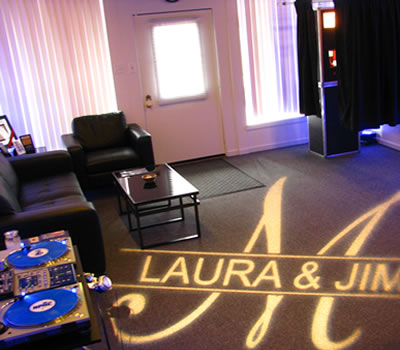An aerial view of the show room inside our South Side DJ Studio. BPM Deejays is the home of the best Pittsburgh Wedding DJs.