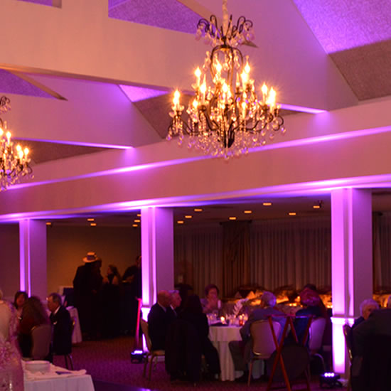 LED Uplighting at Wildwood Golf Club Wedding