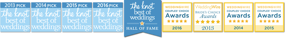 Pittsburgh Wedding DJs, Winners of The Knot Best Of Weddings, Hall Of Fame, and Weddingwire Bride's Choice Award